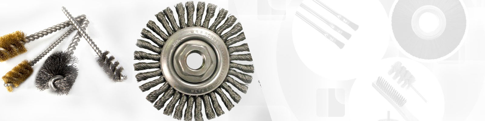 RADIAL END BRUSHES STAINLESS STEEL
