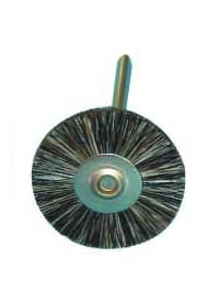 Alumina miniature wheel brush